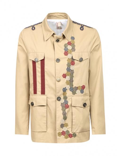 Куртка на пуговицах с аппликацией - Общий вид
