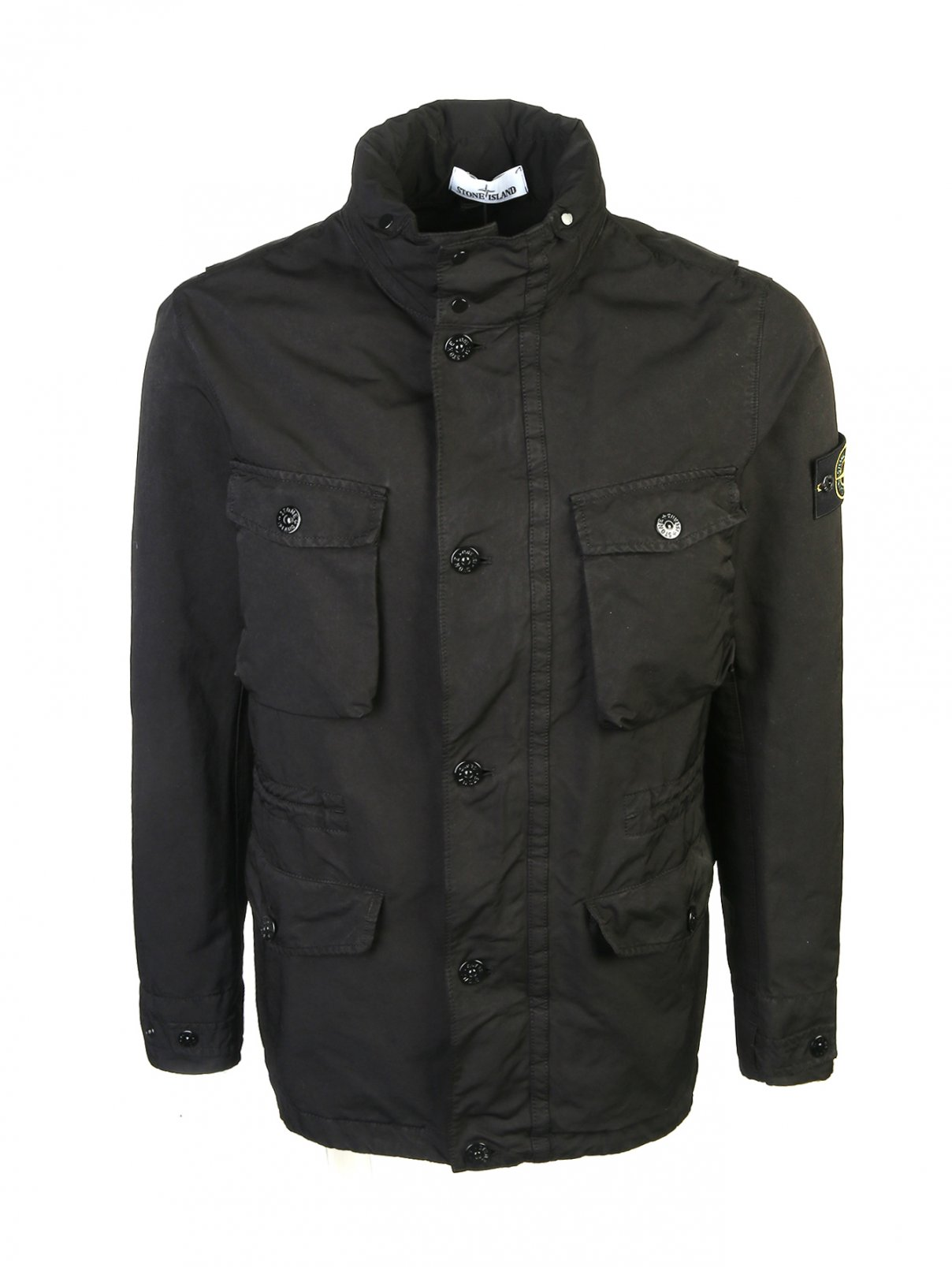 Куртка на молнии с накладными карманами Stone Island  –  Общий вид