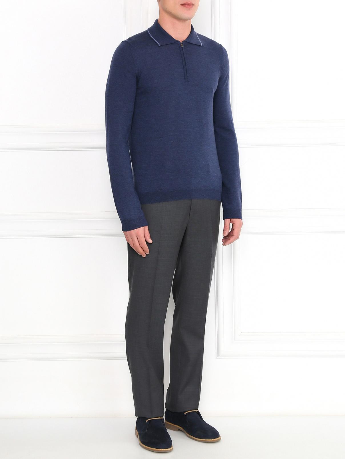 Классические брюки из фактурной шерсти Pal Zileri  –  Модель Общий вид