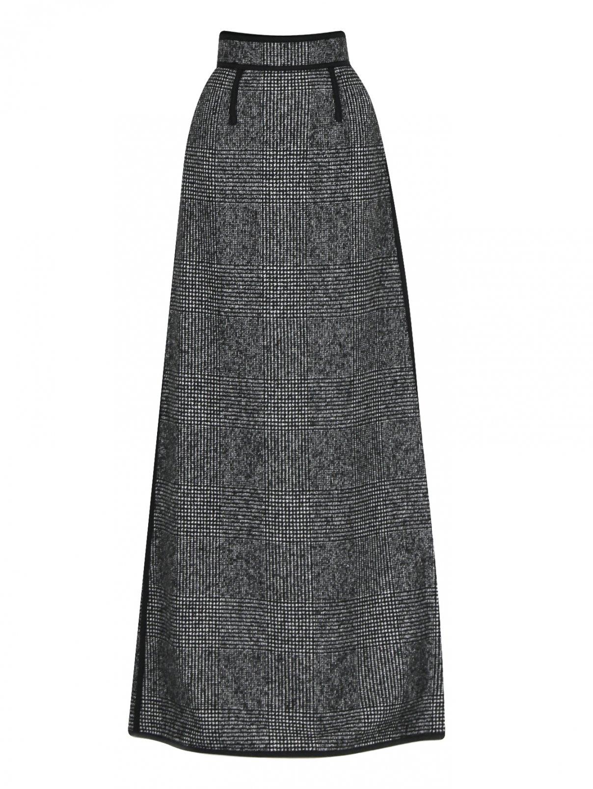 Юбка-макси из шерсти с узором Dsquared2  –  Общий вид