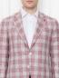 Пиджак из шерсти и шелка с узором Isaia  –  МодельОбщийВид1