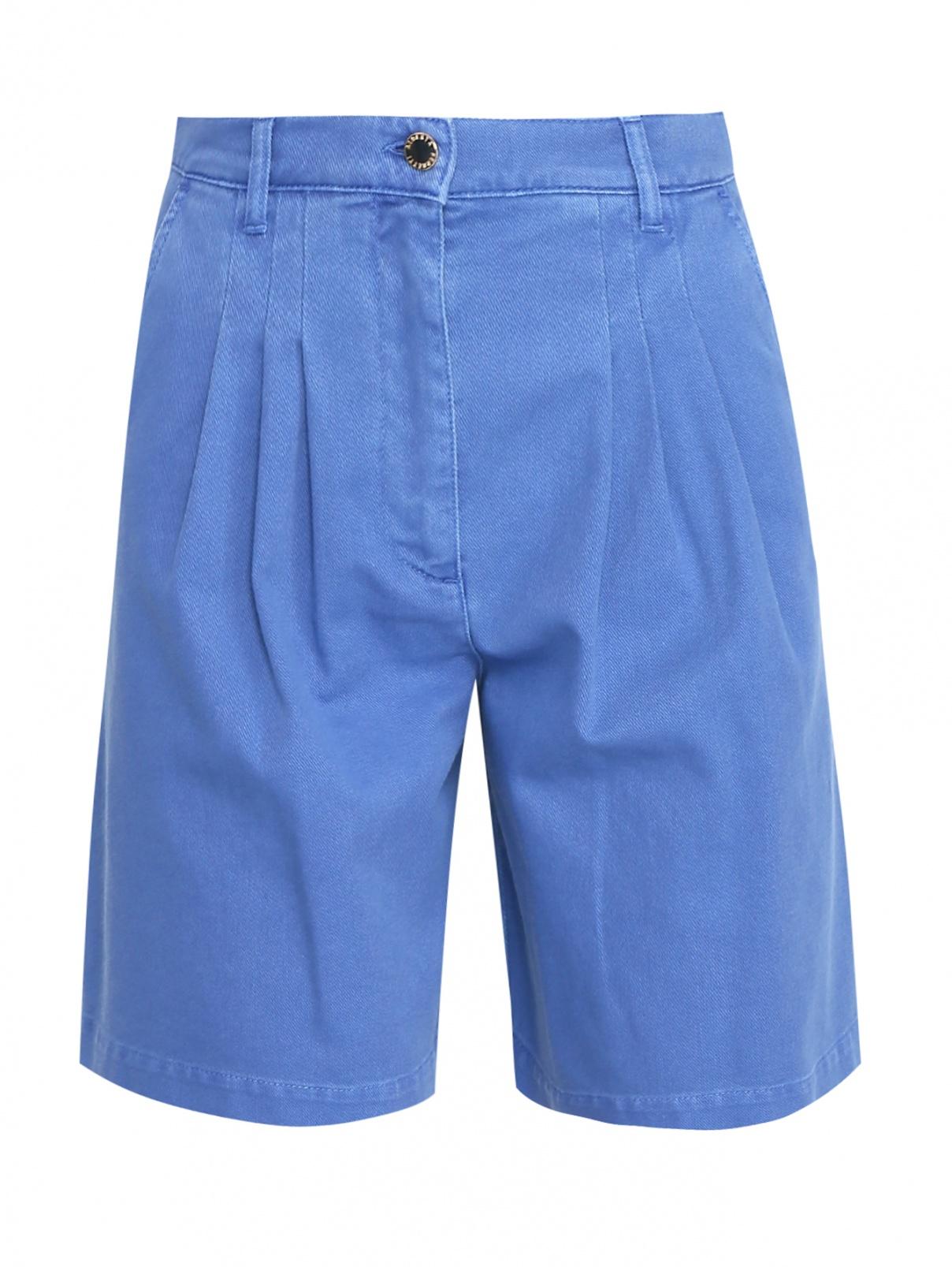Джинсовые шорты свободного кроя с карманами Alberta Ferretti  –  Общий вид