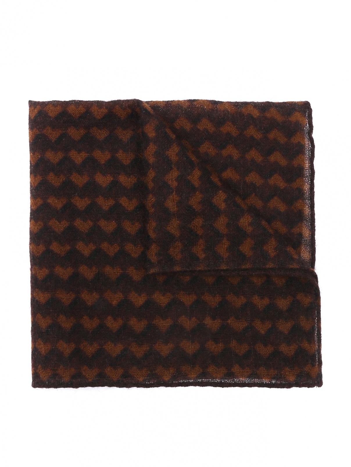 Платок из шерсти с узором LARDINI  –  Общий вид