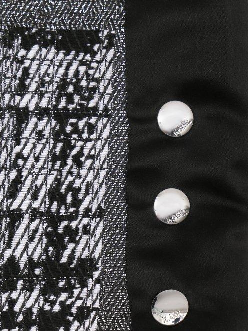 Юбка-мини с боковыми разрезами на клепках - Деталь1
