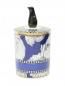 Свеча в фарфоровом подсвечнике  с декоративной фигуркой пингвина на крышке Ginori 1735  –  Общий вид