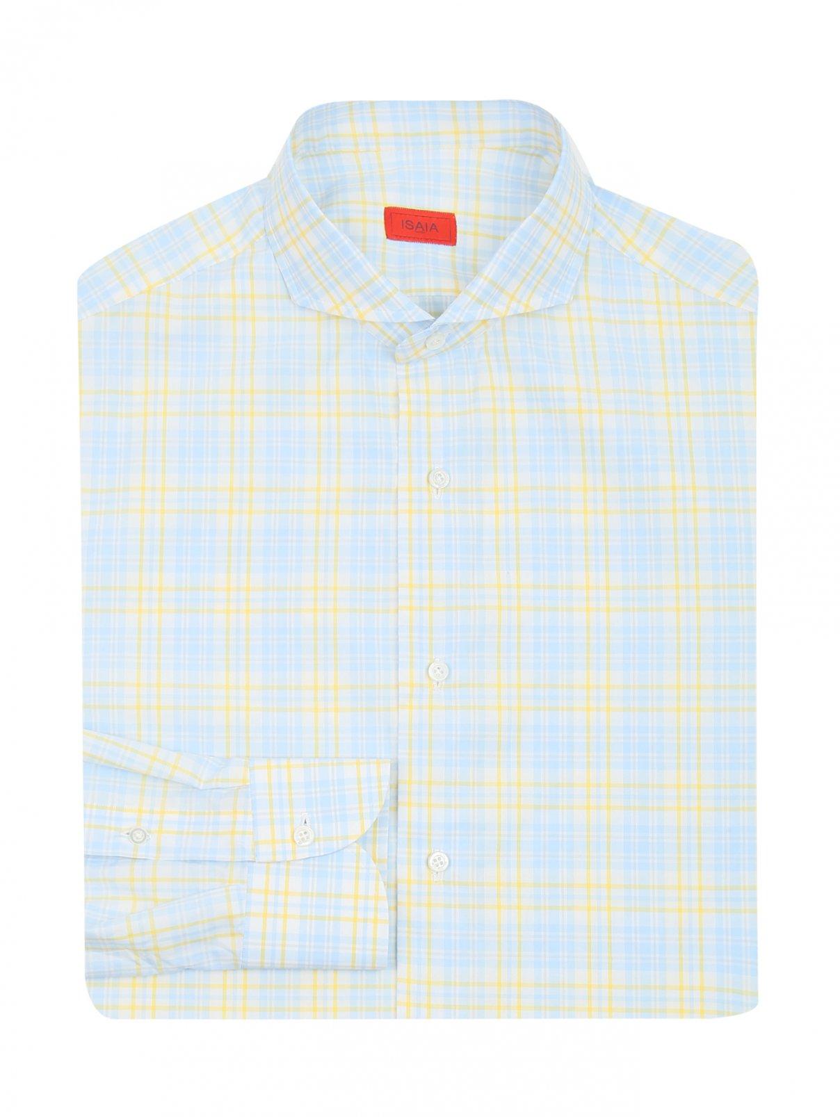 Рубашка из хлопка с узором клетка Isaia  –  Общий вид