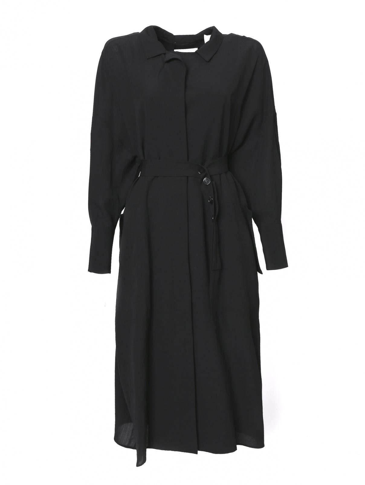 Платье свободного кроя с поясом Jil Sander  –  Общий вид