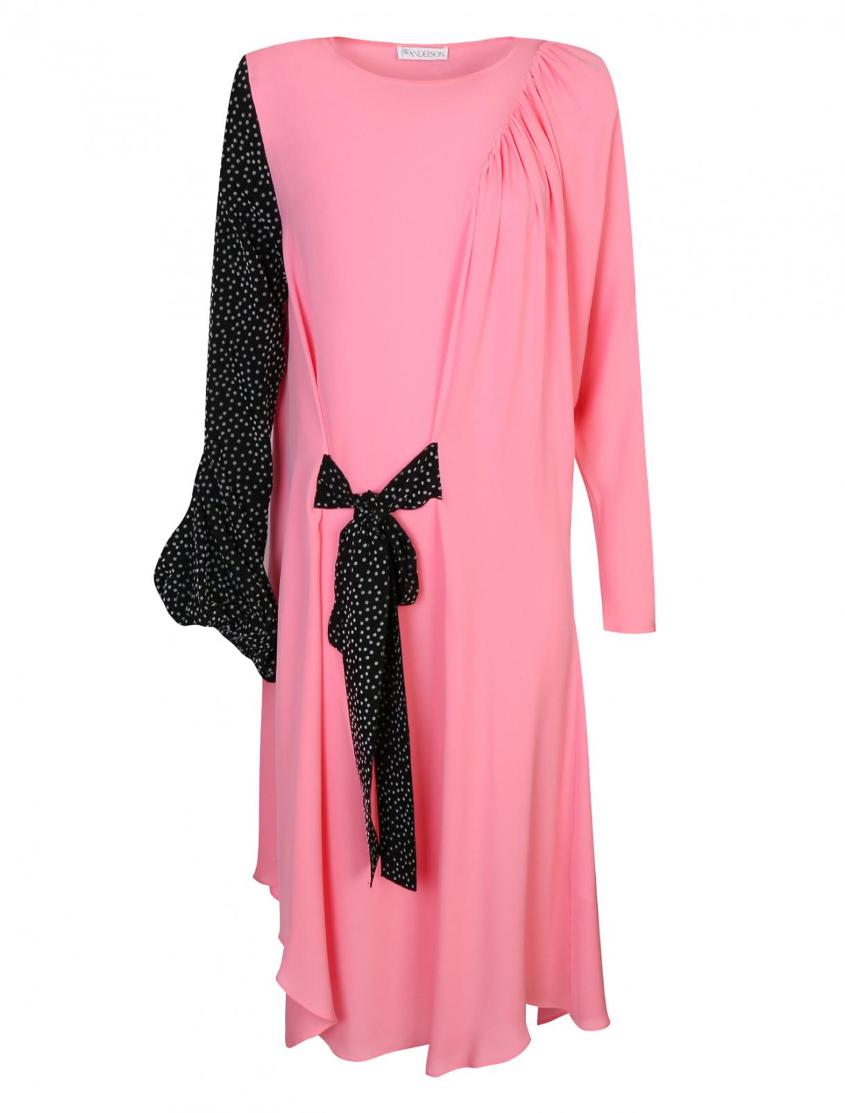 Платье с драпировкой и узором J.W. Anderson  –  Общий вид