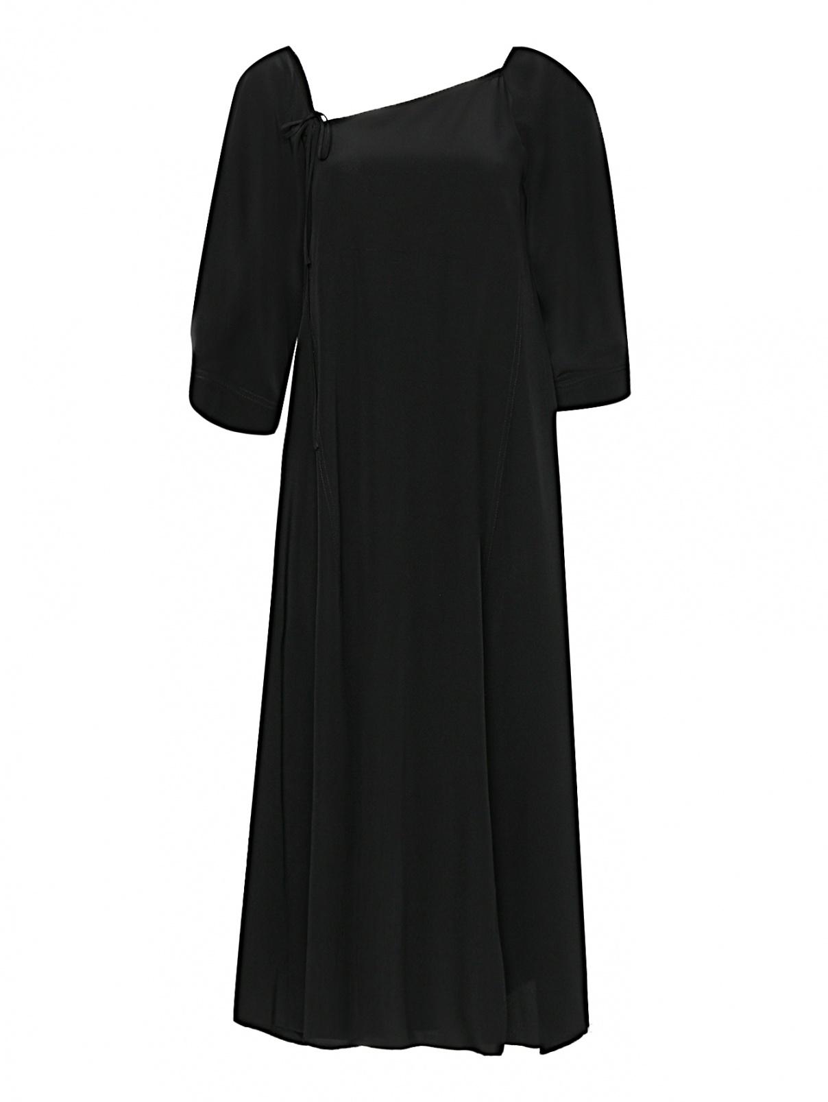 Платье-миди из шелка с разрезами Dorothee Schumacher  –  Общий вид