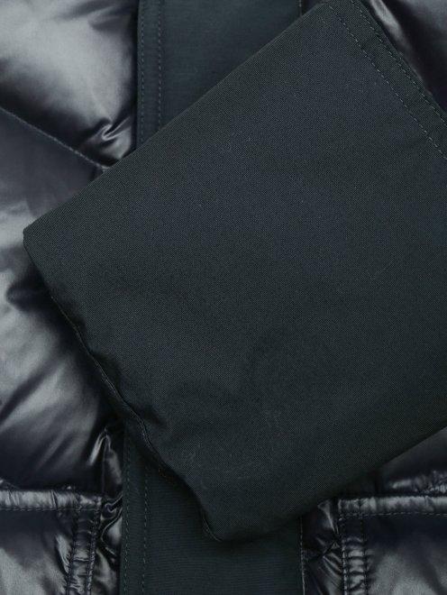 Пуховик на молнии с накладными карманами - Деталь1