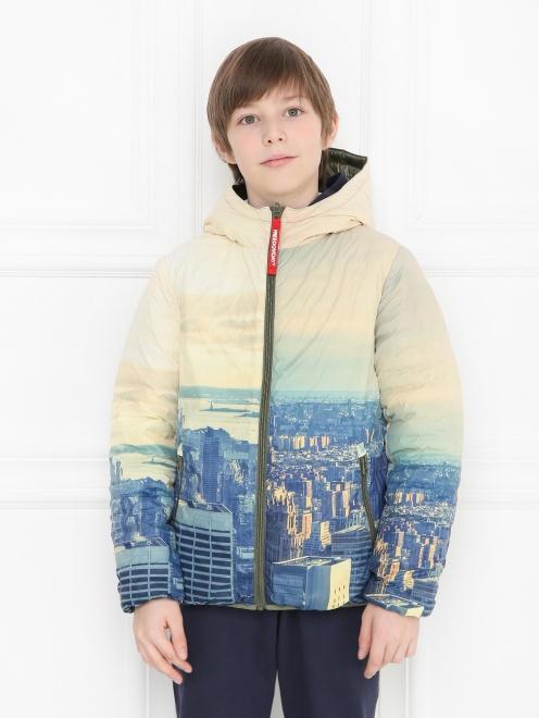 Куртка ветрозащитная с узором Freedomday - МодельОбщийВид1