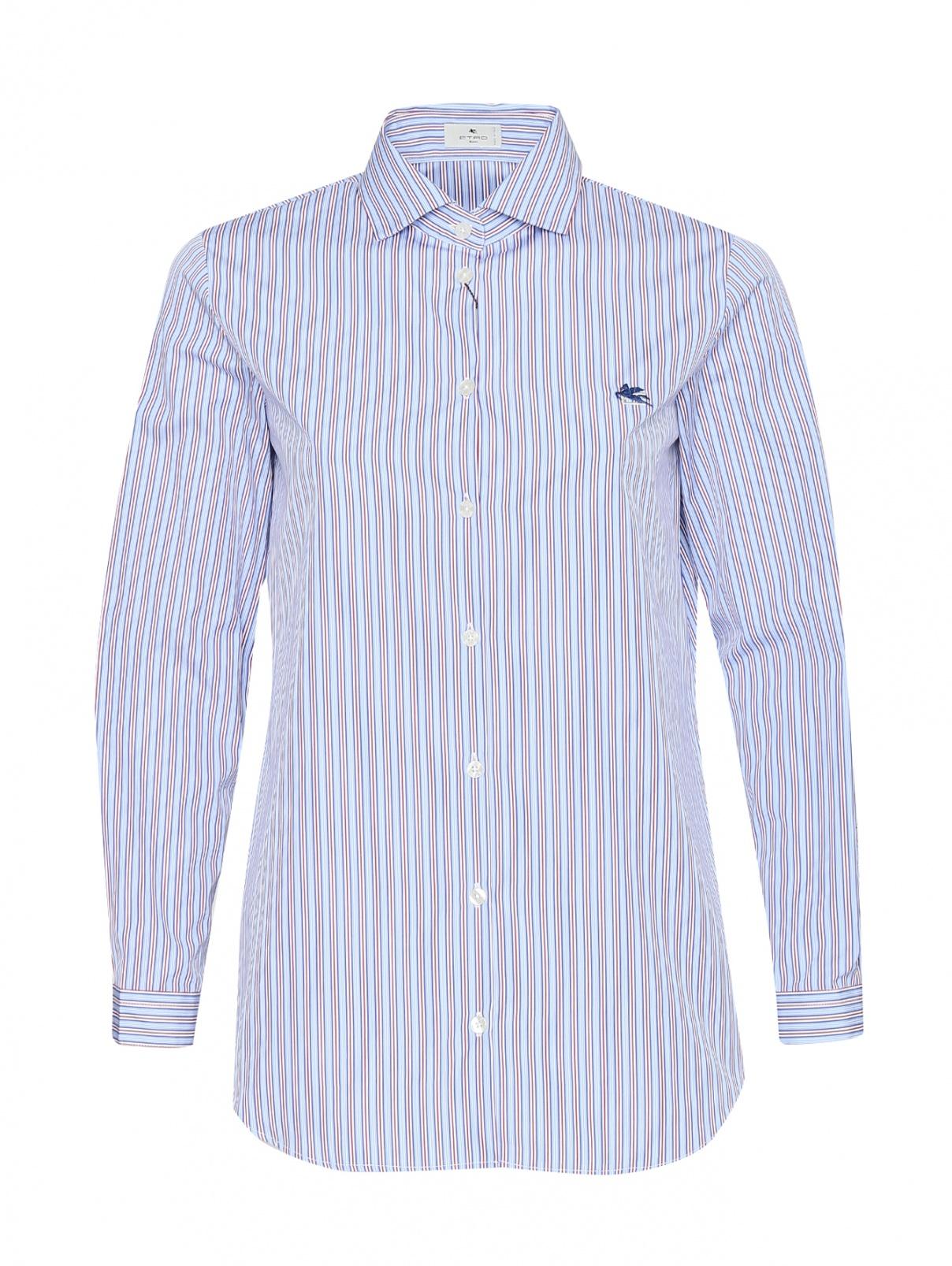 Рубашка из хлопка с узором полоска Etro  –  Общий вид