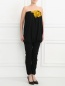 Комбинезон из хлопка с декоративным цветком Lanvin  –  Модель Верх-Низ