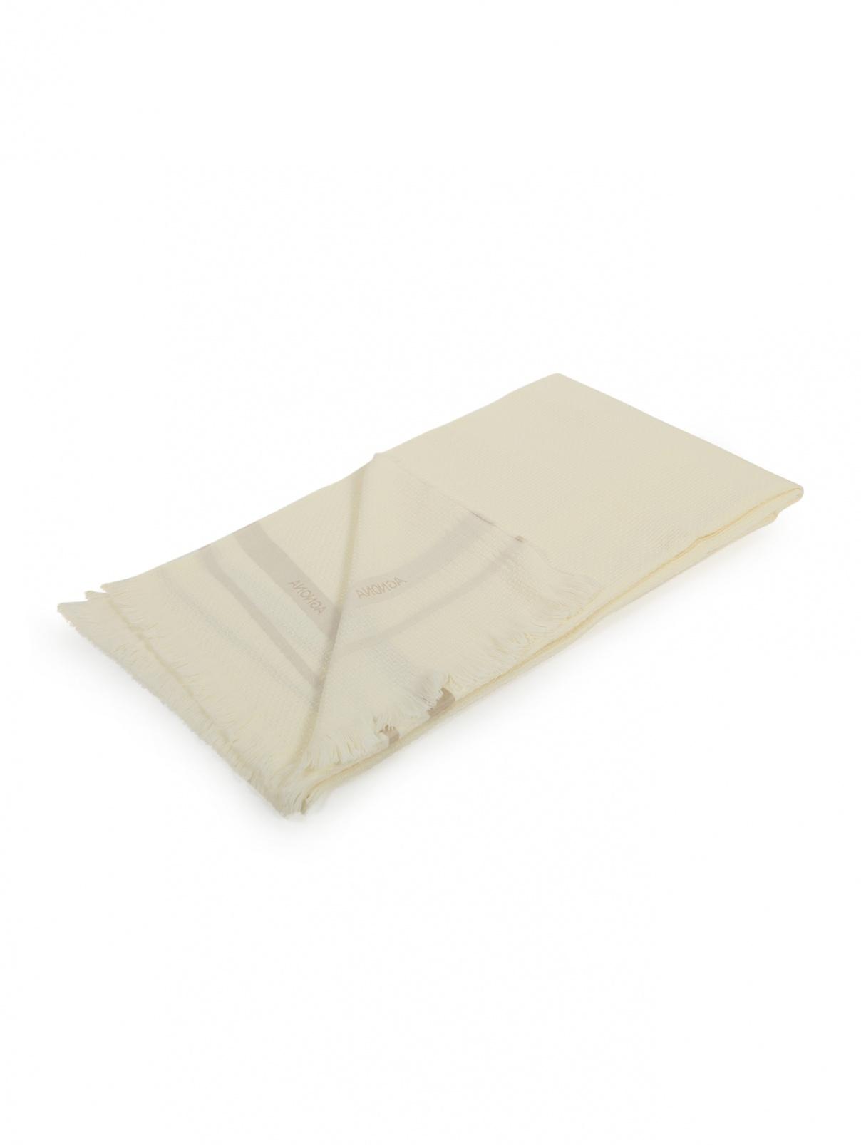 Плед фактурный из шерсти и шелка с бахромой 140 x 200 Agnona  –  Общий вид