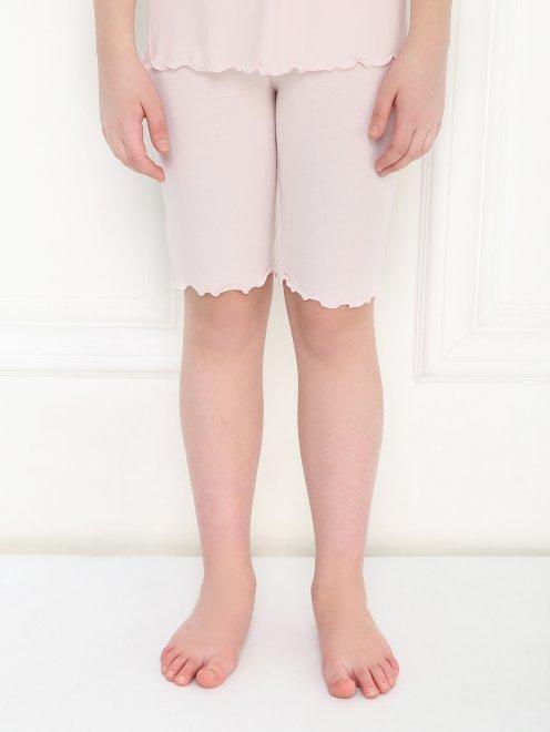 Пижама трикотажная с кружевным декором La Perla - МодельВерхНиз