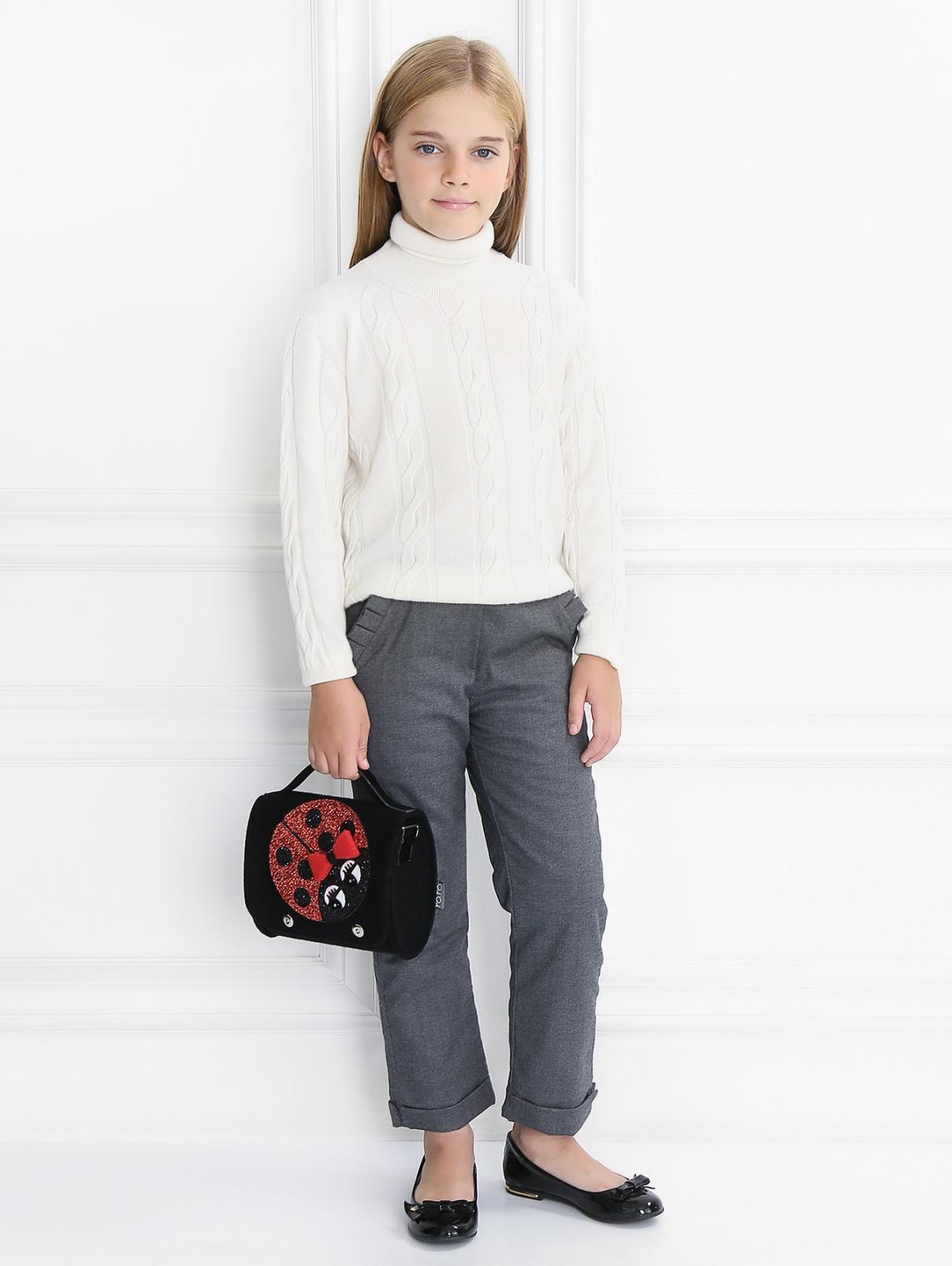 Утепленные брюки с декоративными подворотами Aletta Couture  –  Модель Общий вид