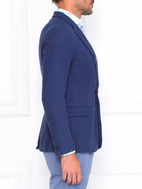 Пиджак из фактурного хлопка - Модель Верх-Низ