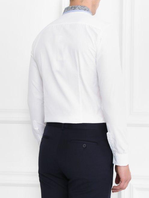Рубашка из хлопка с контрастной вставкой - Модель Верх-Низ1