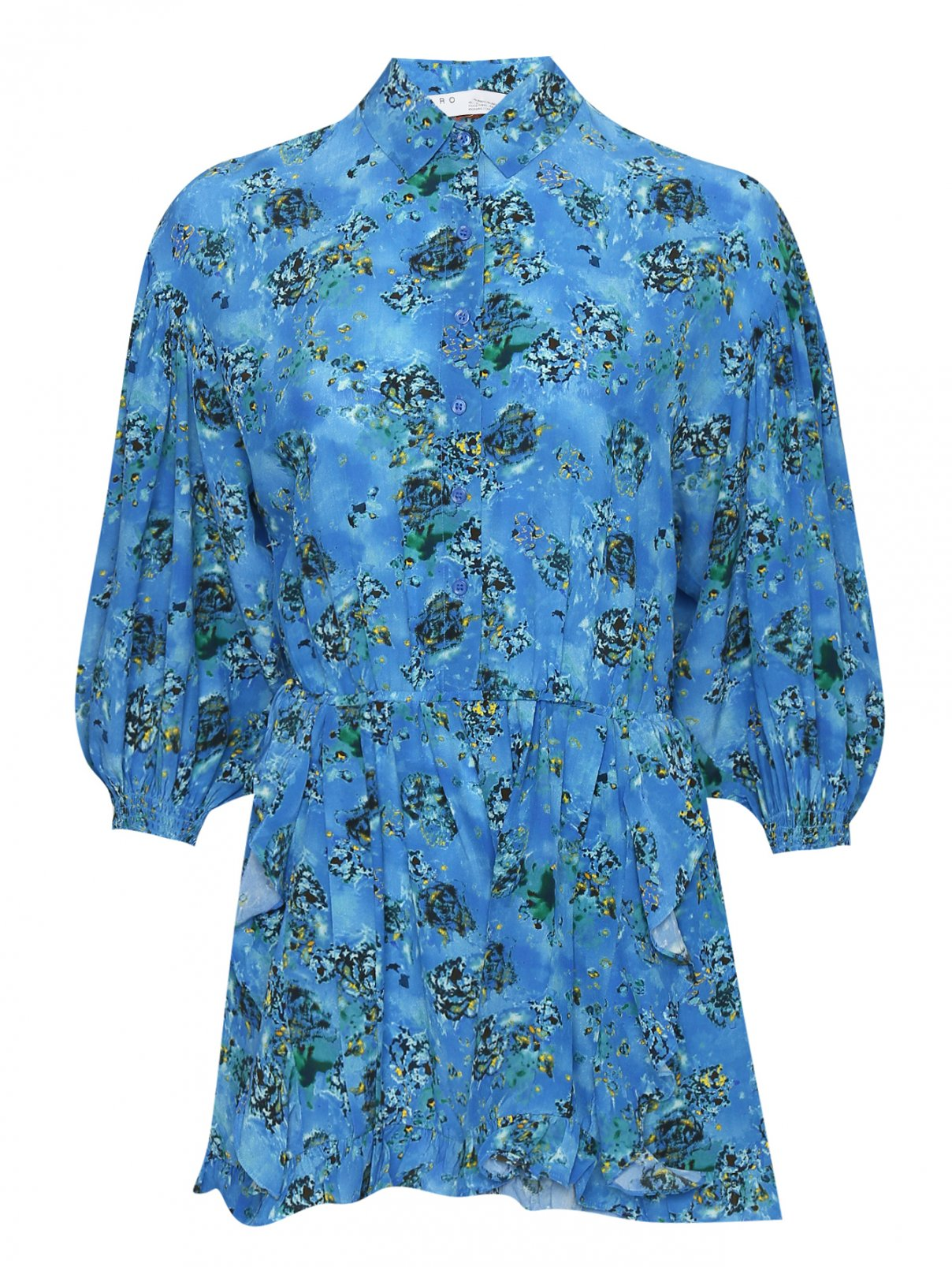 Платье из вискозы и шелка с узором IRO  –  Общий вид