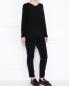 Джемпер фактурной вязки с длинными рукавами Marina Sport  –  МодельОбщийВид