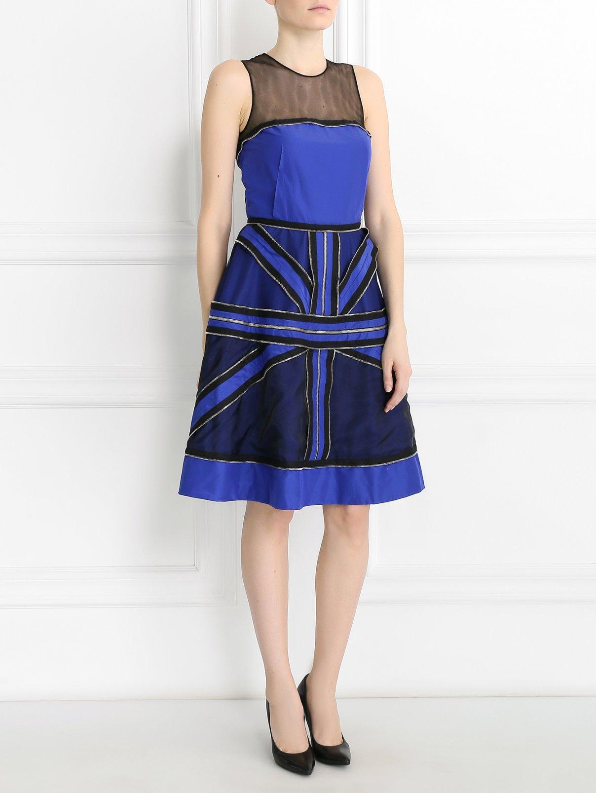 Платье из хлопка и шелка с металлической фурнитурой Jean Paul Gaultier  –  Модель Общий вид