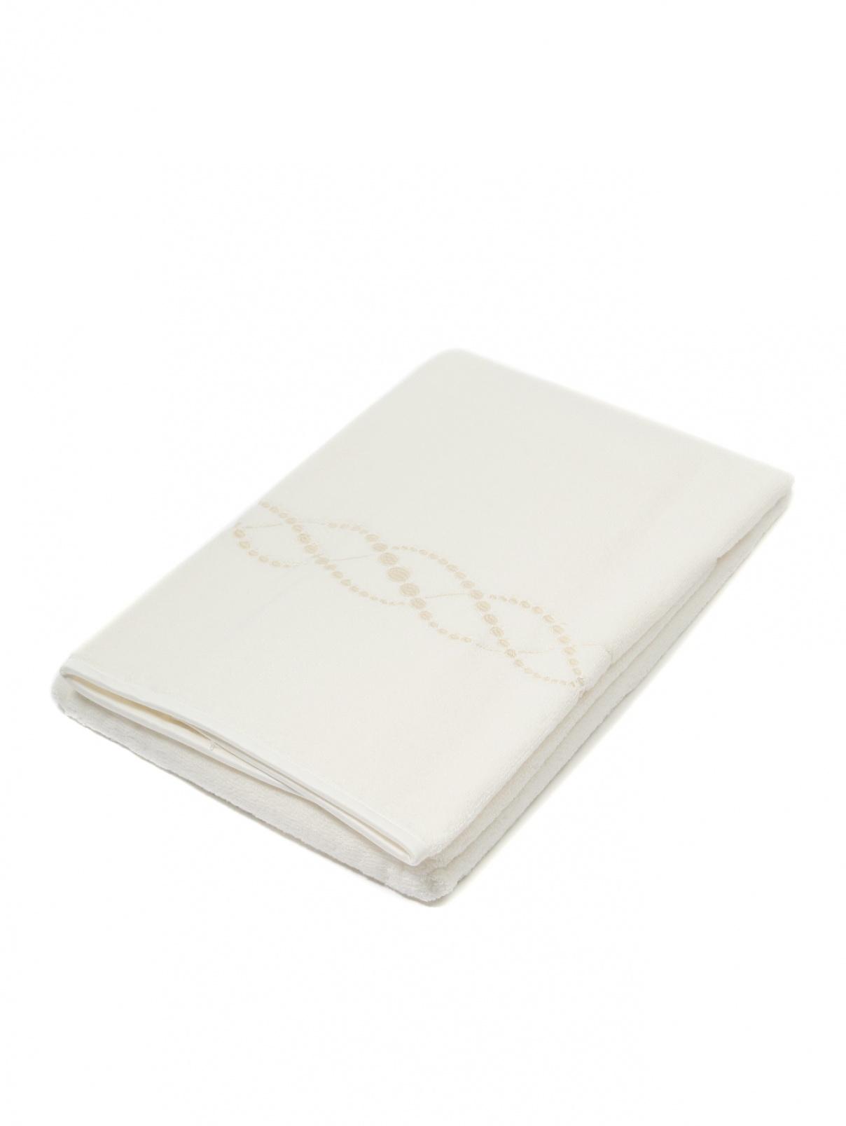 Полотенце из хлопковой махровой ткани с вышивкой 60 x 110 Frette  –  Общий вид