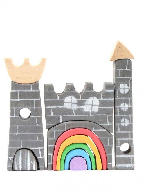 """Конструктор из дерева """"Замок с радугой"""" Деревяшкино - Общий вид"""