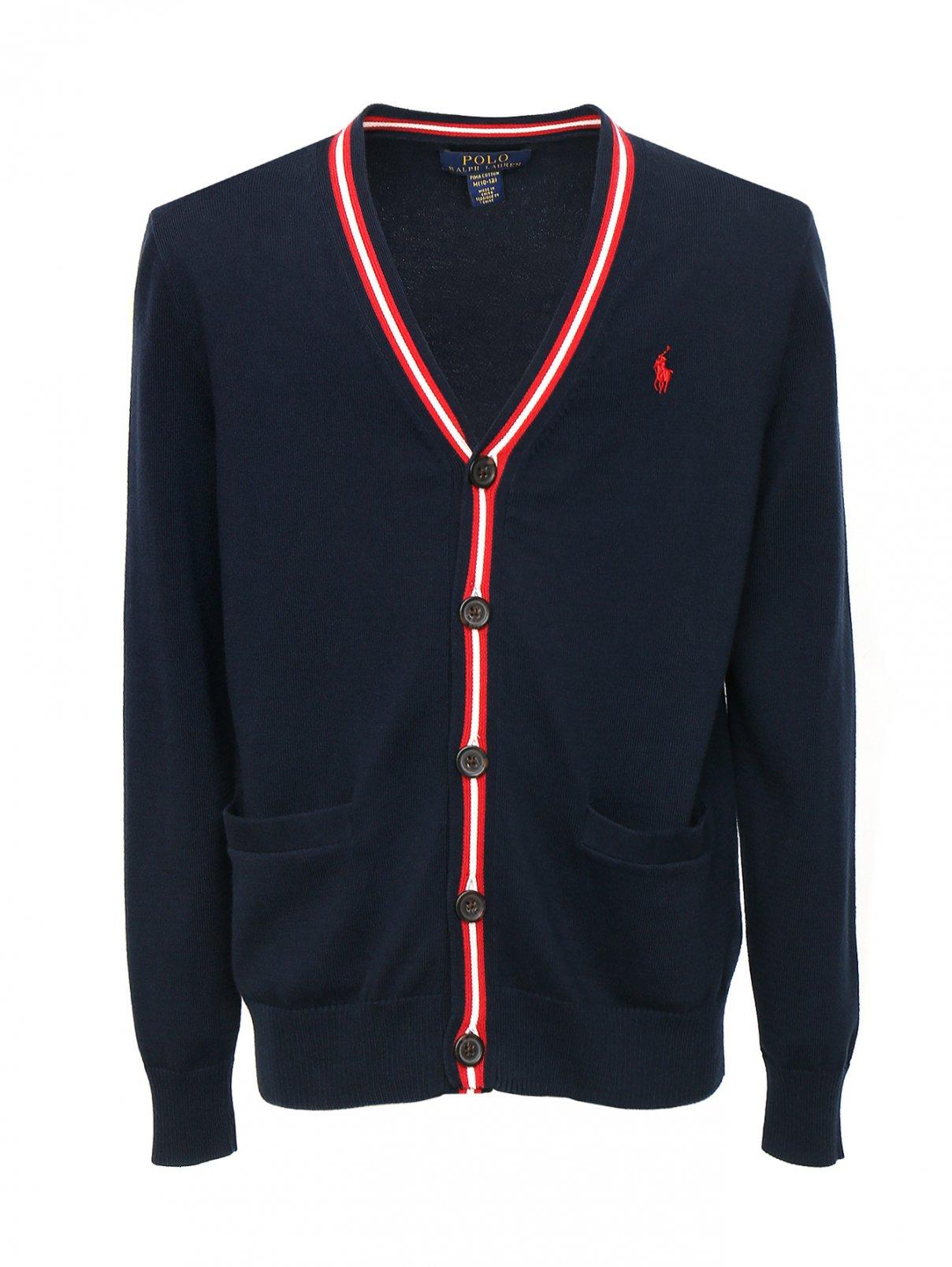 Кардиган из хлопка с накладными карманами Ralph Lauren  –  Общий вид