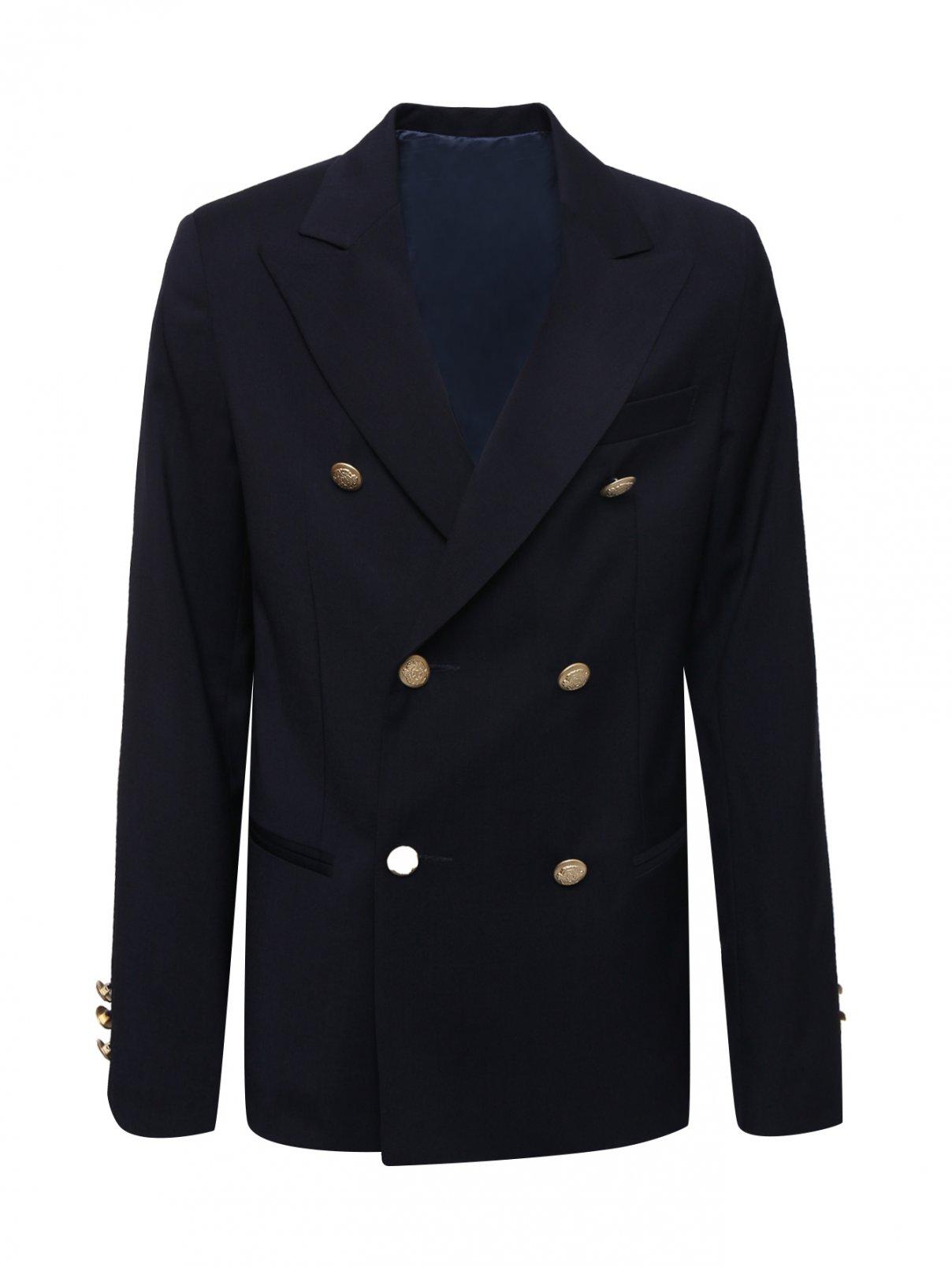 Пиджак двубортный из шерсти Dal Lago  –  Общий вид