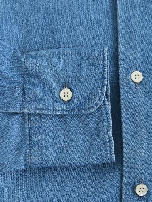 Рубашка из денима с нагрудным карманом  - Деталь1