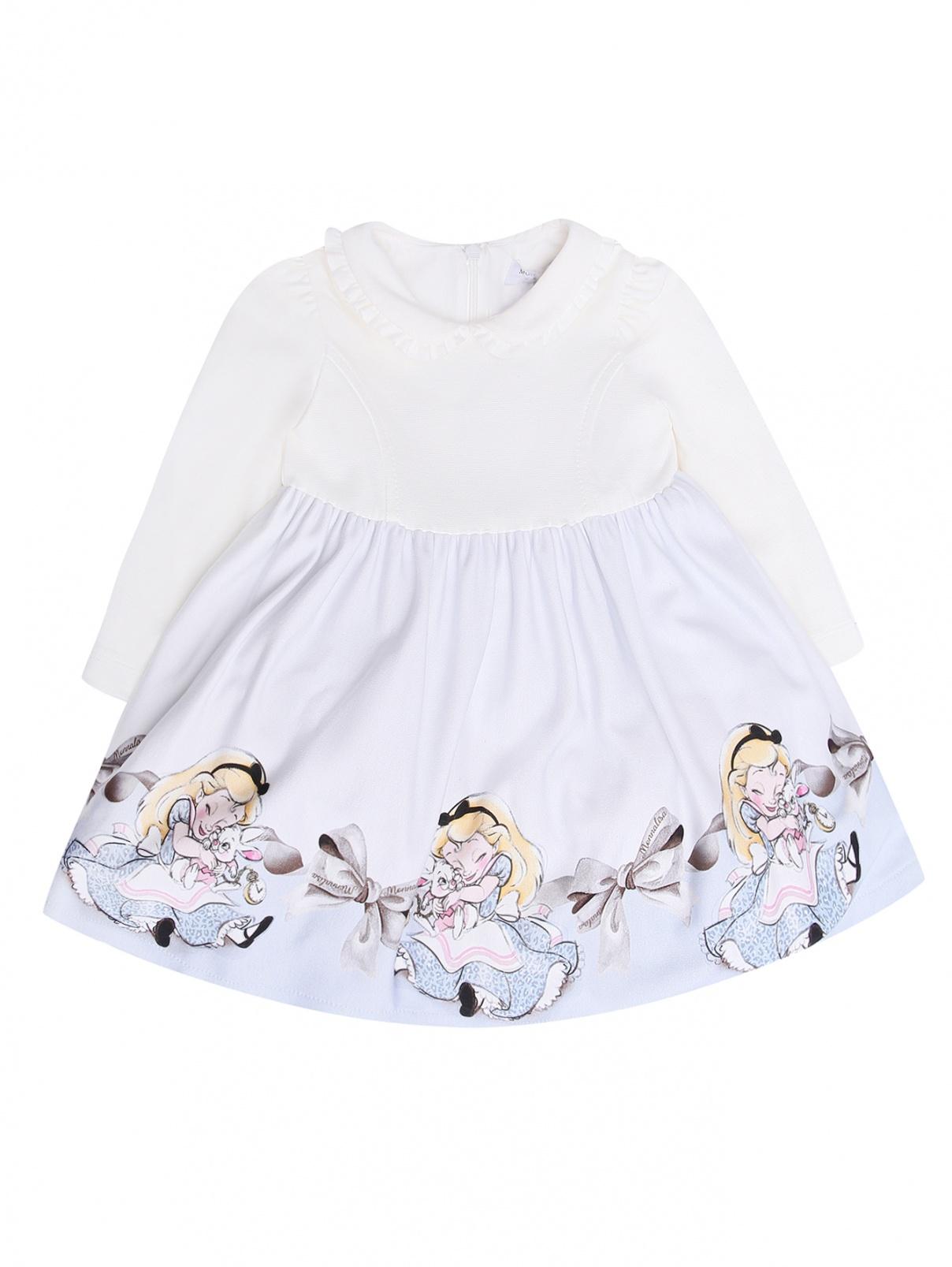 Трикотажное платье с узором MONNALISA  –  Общий вид