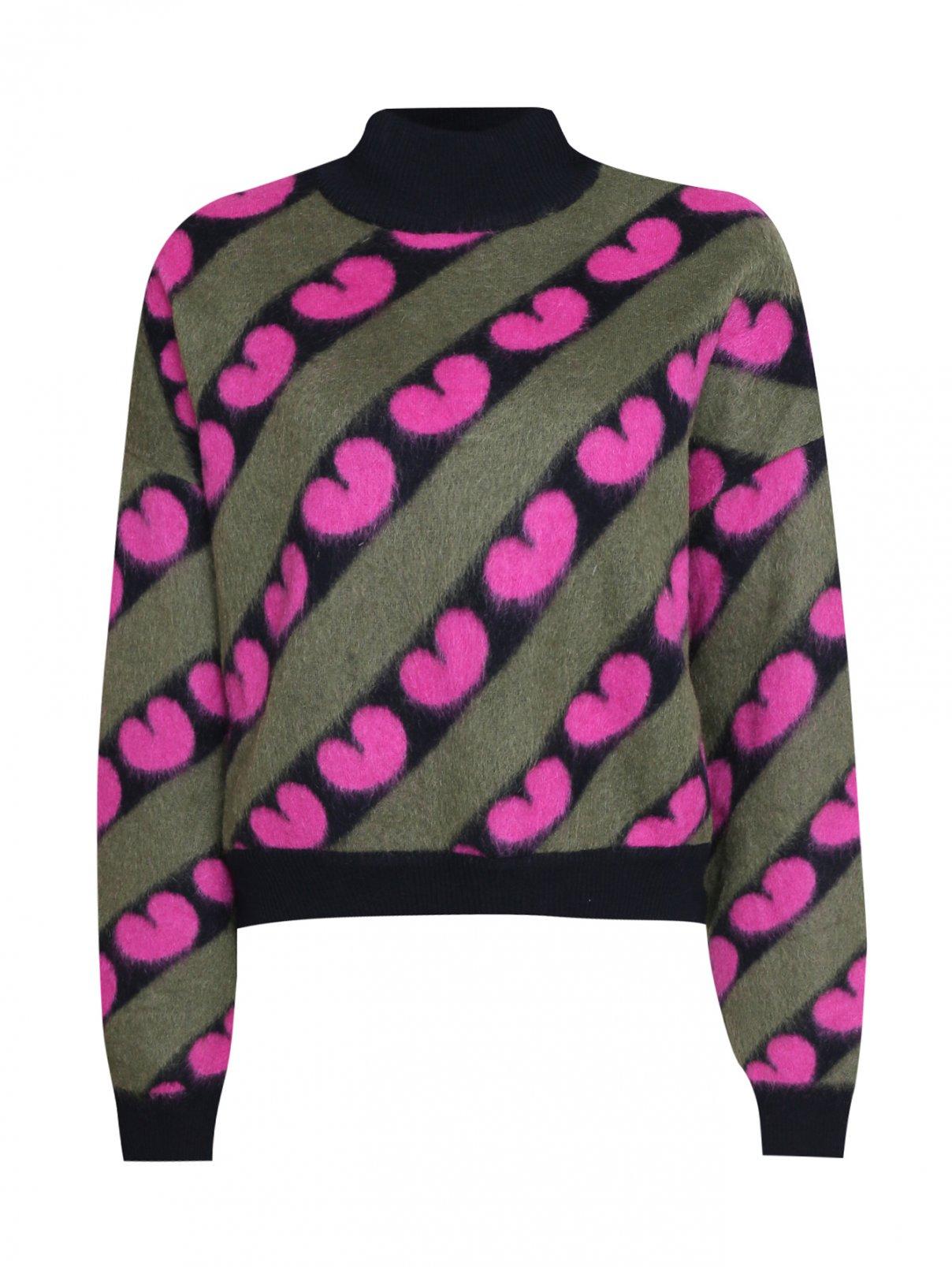 Джемпер из объемной шерсти с рисунком Marni  –  Общий вид