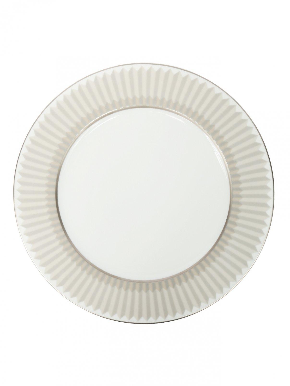 Тарелка подстановочная из фарфора с геометрическим узором Haviland  –  Общий вид