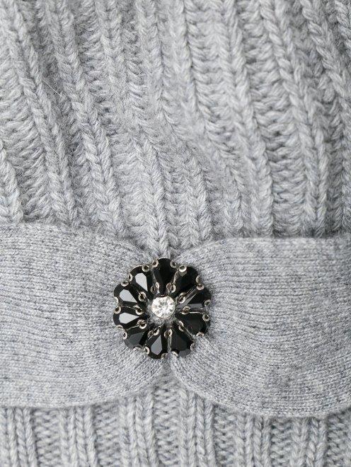 Берет из смешанной шерсти декорированный кристаллами - Деталь