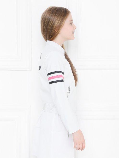 Куртка из эко-кожи в байкерском стиле Freedomday - МодельВерхНиз2