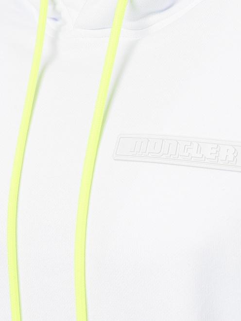 Толстовка из хлопка с контрастной вставкой Moncler - Деталь