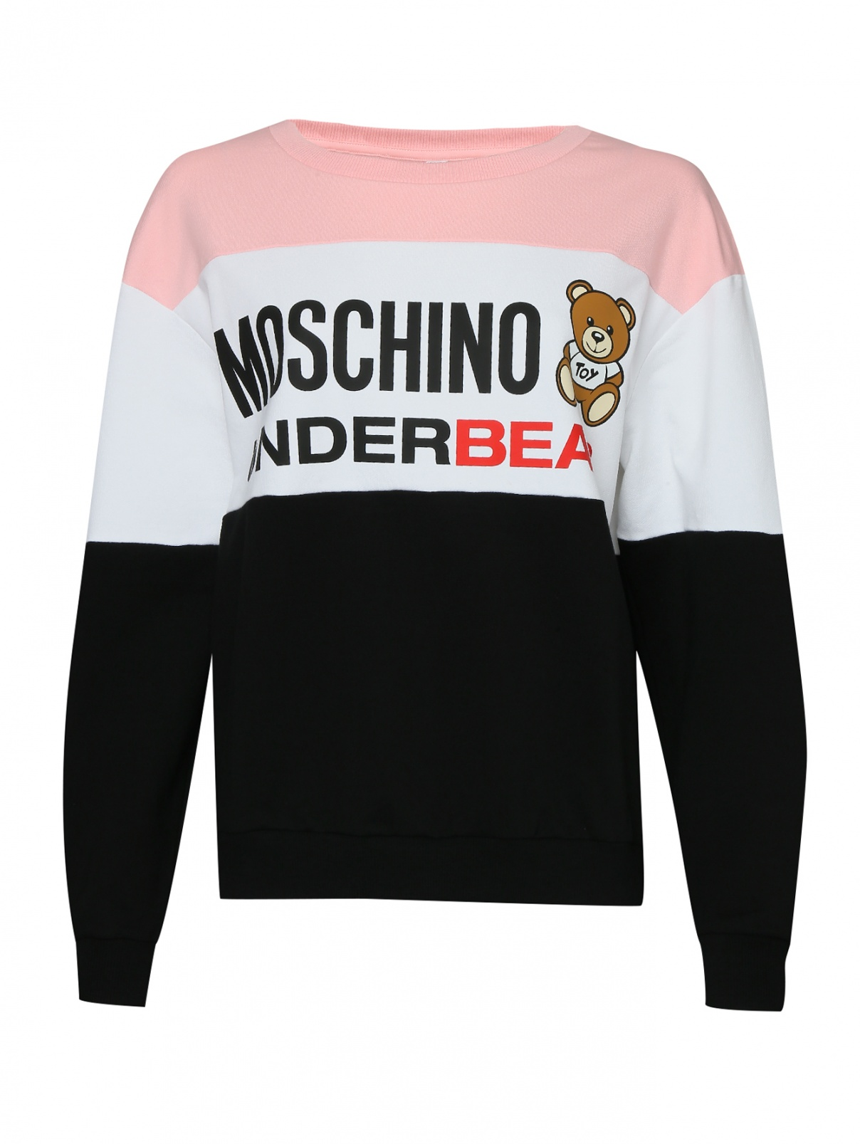 Свитшот хлопковый с принтом Moschino underwear  –  Общий вид
