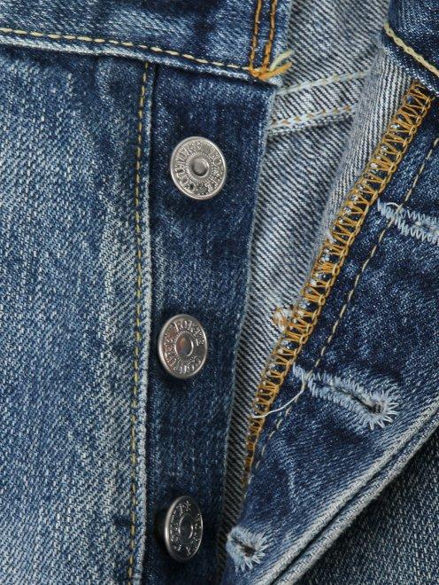 Джинсы укороченные с вышивкой - Деталь1
