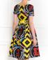 Платье из шелка с абстрактным узором с поясом Moschino Couture  –  Модель Верх-Низ1