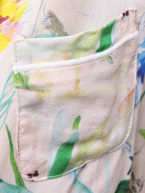 Блуза в пижамном стиле - Деталь1