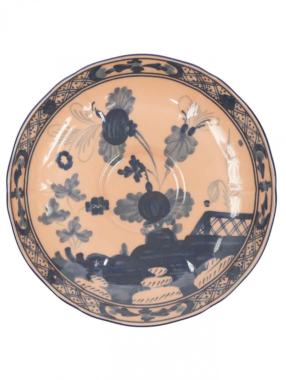 Блюдце кофейное из фарфора с узором Richard Ginori 1735  –  Общий вид
