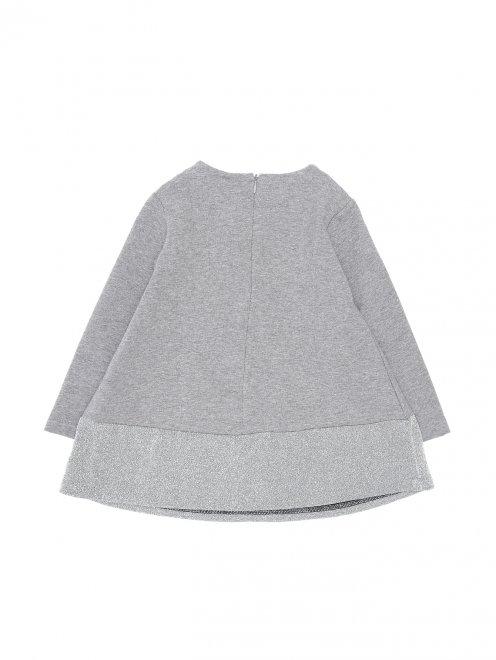 Платье из хлопка с принтом - Общий вид