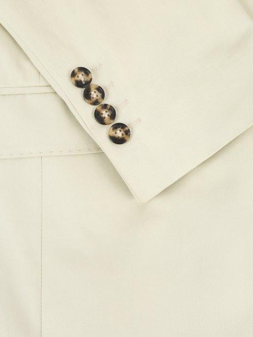 Пиджак однобортный из хлопка - Деталь