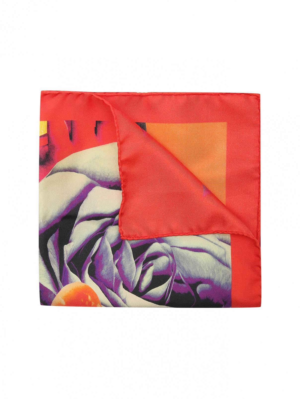 Платок  из шелка с узором Paul Smith  –  Общий вид