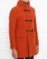 Пальто из шерсти с накладными карманами Herno  –  МодельВерхНиз