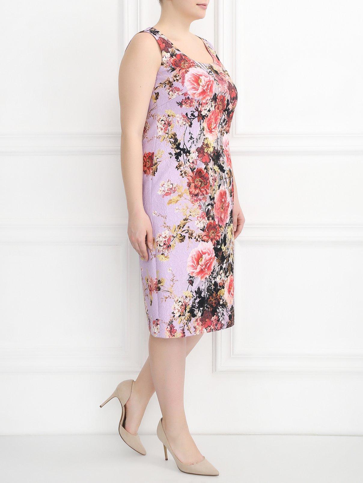 Платье с цветочным узором Marina Rinaldi  –  Модель Общий вид