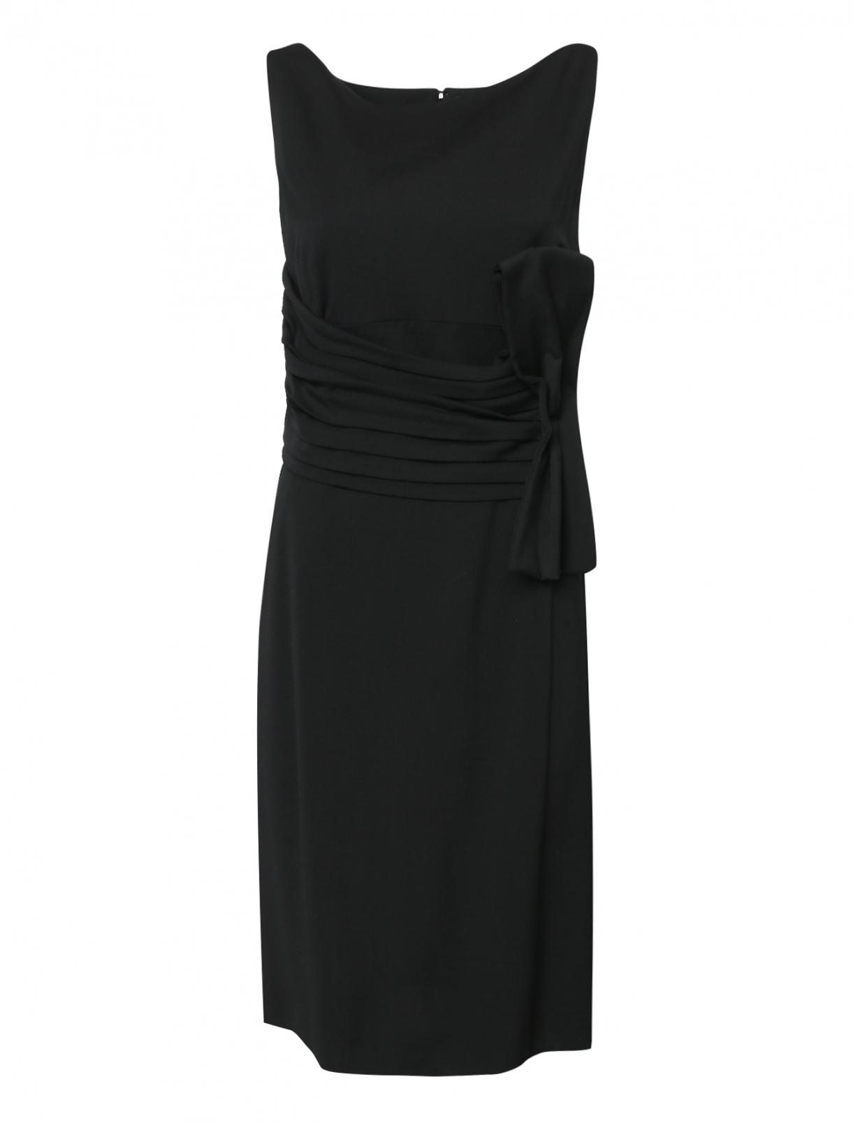 Платье шерстяное с декоративной сборкой на талии Dsquared2  –  Общий вид