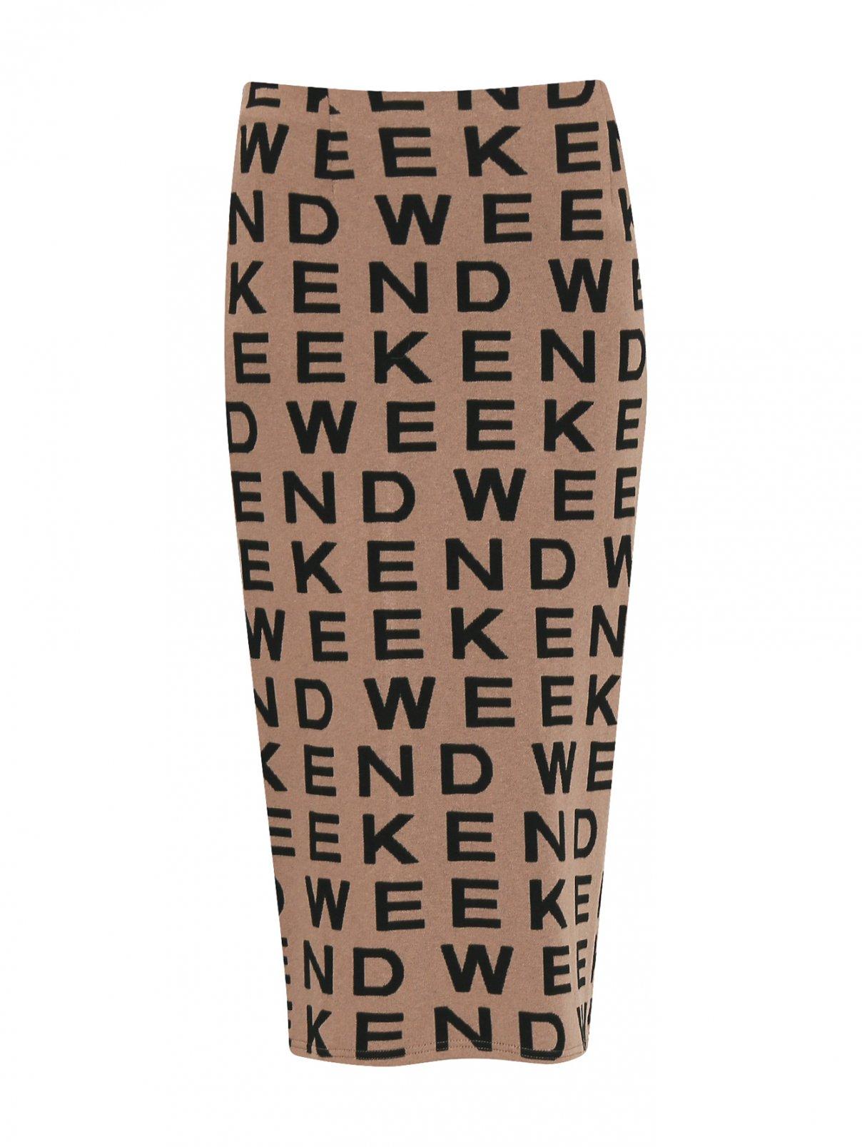 Трикотажная юбка с узором Weekend Max Mara  –  Общий вид