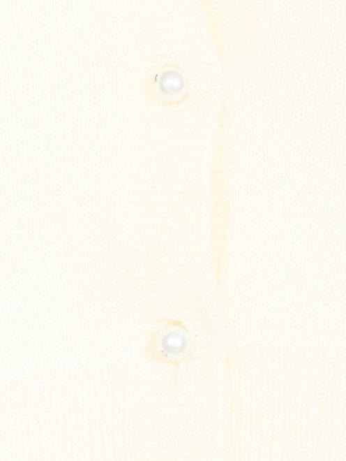 Болеро из кашемира с длинными рукавами  - Деталь