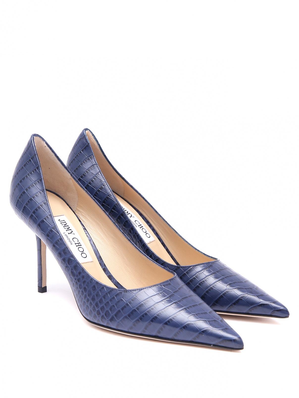 Туфли с эффектом кожи крокодила на шпильке Jimmy Choo  –  Общий вид